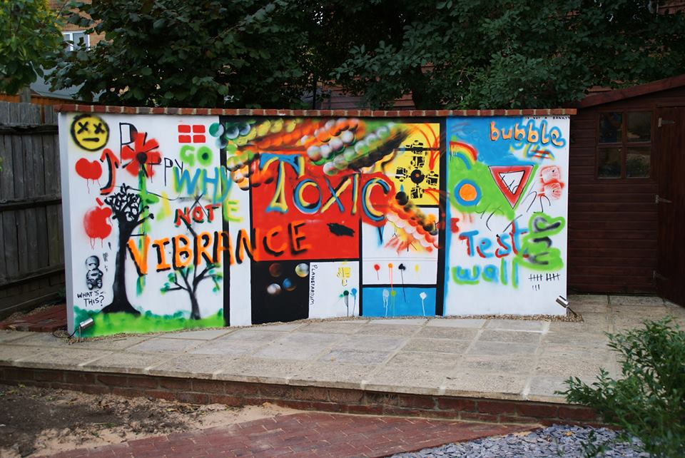 Man Builds Free-Standing Wall In His Garden So It Can Be Used As A Giant Canvas