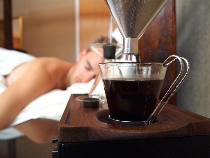 This Alarm Clock Wakes You Up With A Fresh Cup Of Coffee