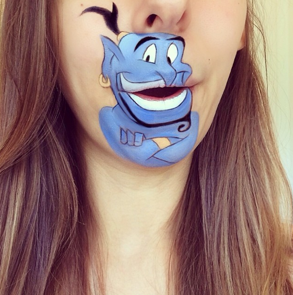 Makeup Artist Turns Her Lips Into Iconic Cartoon Characters