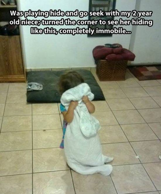 20 Kids Who Are Totally Winning At Hide And Seek