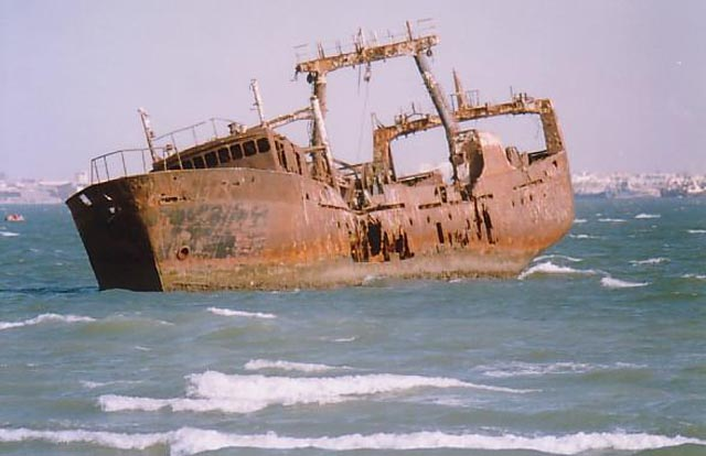 World's Largest Ship Graveyard Has Over 300 Rotting Ships
