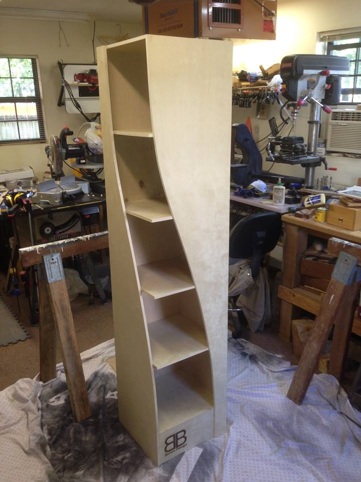 Father And Son Build Twisted Bookshelves That You'll Want In Your Living Room