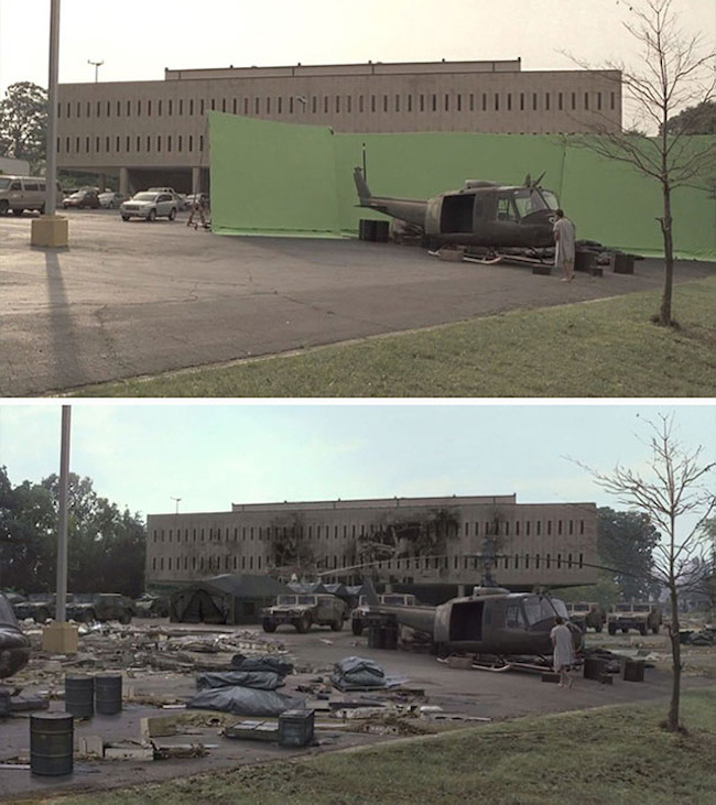 41 Famous Movie Scenes Before And After Special Effects