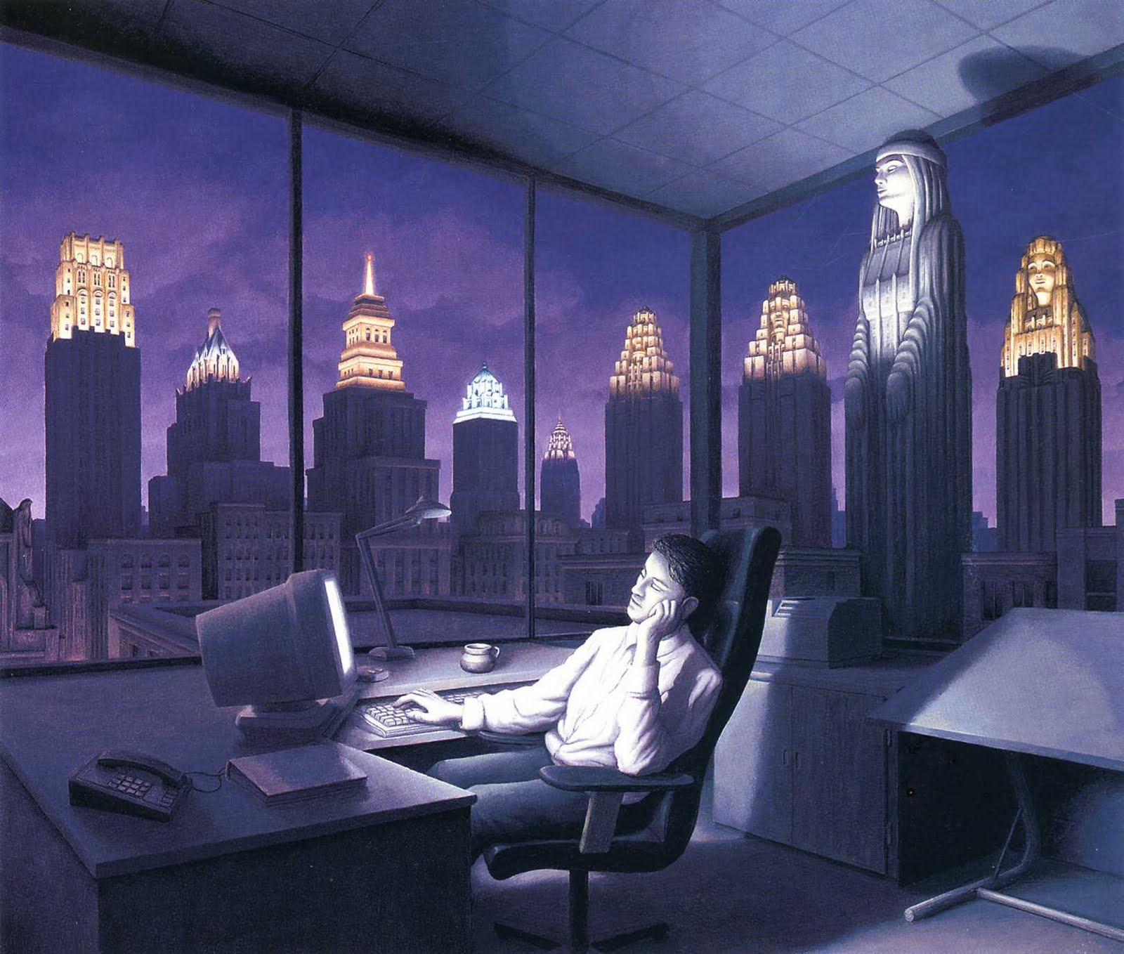 46 Mind-Bending Optical Illusion Paintings By Artist Rob Gonsalves