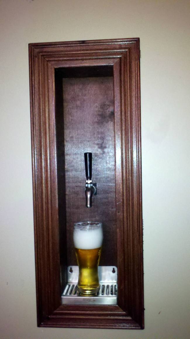 How To Build A Beer Tap And Kegerator Into Your Wall Because We All Need One