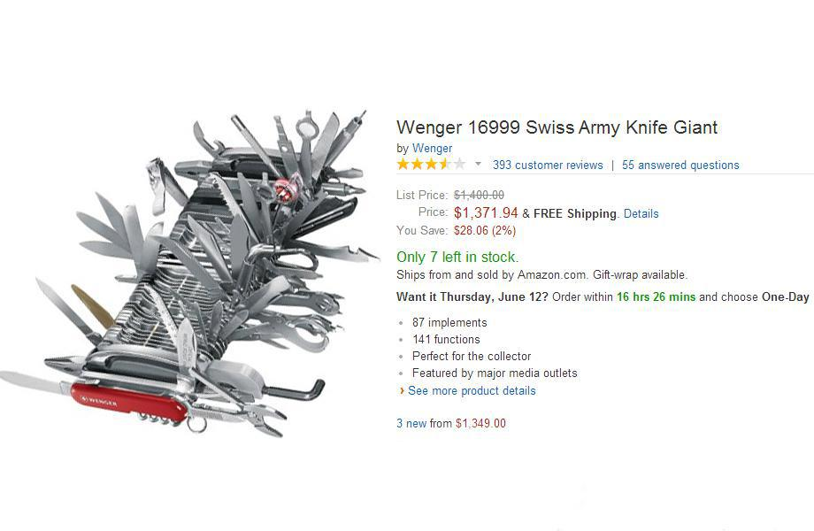 People Can't Stop Trolling This $9000 Swiss Army Knife On Amazon