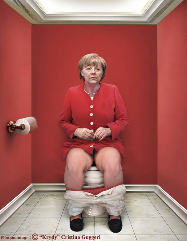 Artist Depicts 9 World Leaders Pooping On The Toilet And It'll Make You Feel Weird