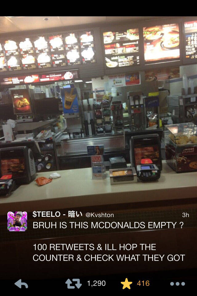 Man Finds Himself Alone In A McDonalds And Hilariously Live Tweets His Actions