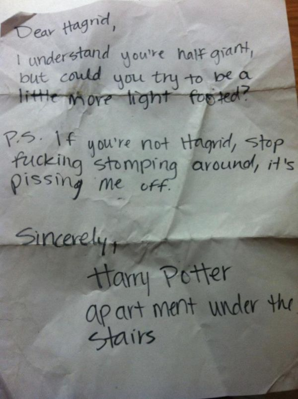 28 Passive Aggressive Neighbor Notes So Funny You Can't Be