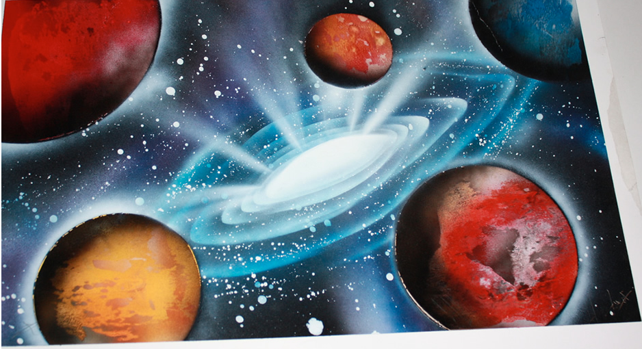 Artist Uses Spray Paint And Fire To Create Beautiful Images Of Space