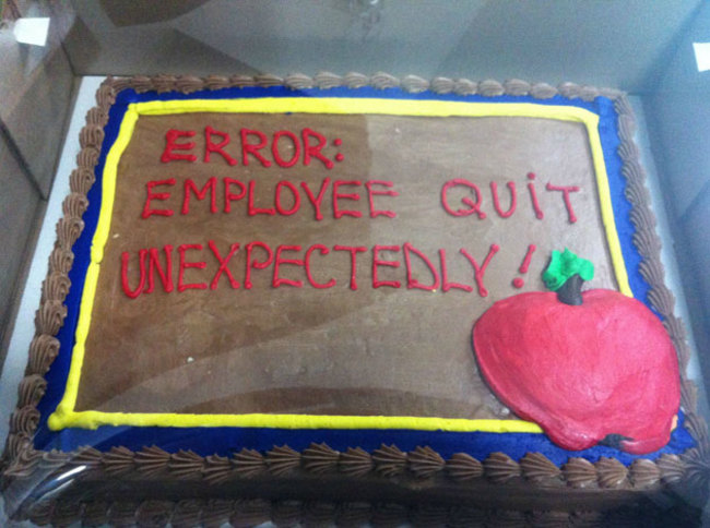 16 Hilarious Farewell Cakes That Employees Gave (And Received) On Their Last Day