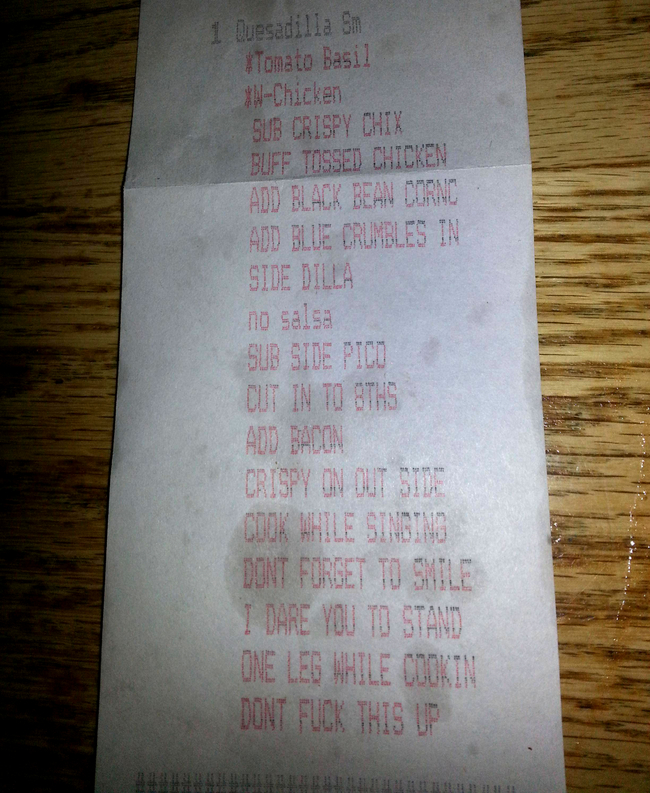 29 Times That Restaurant Servers Had Way Too Much Fun With Their Receipts