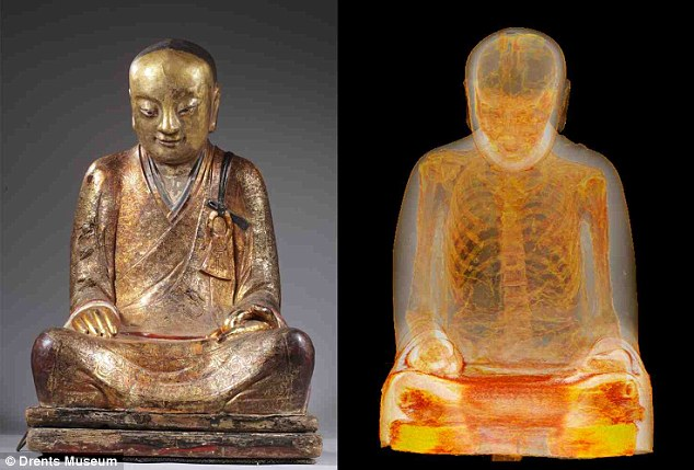 1000-Year-Old Buddha Statue Found Containing The Skeleton Of A Monk