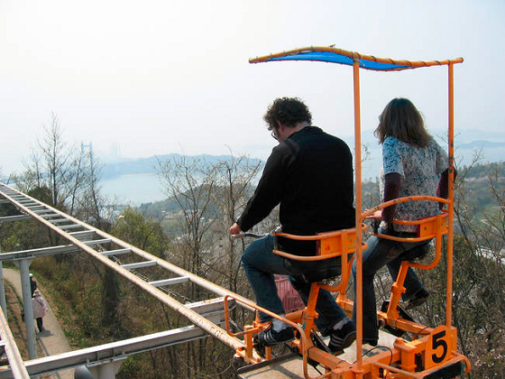 This Pedal Powered Roller Coaster In Japan Is The Most Unintentionally Terrifying Ride Ever