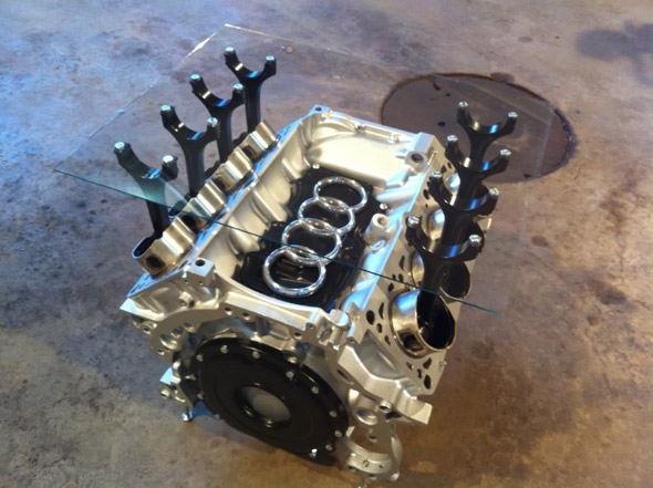 People Are Turning Old Car Engines Into Tables And It's Awesome (13 Pics)