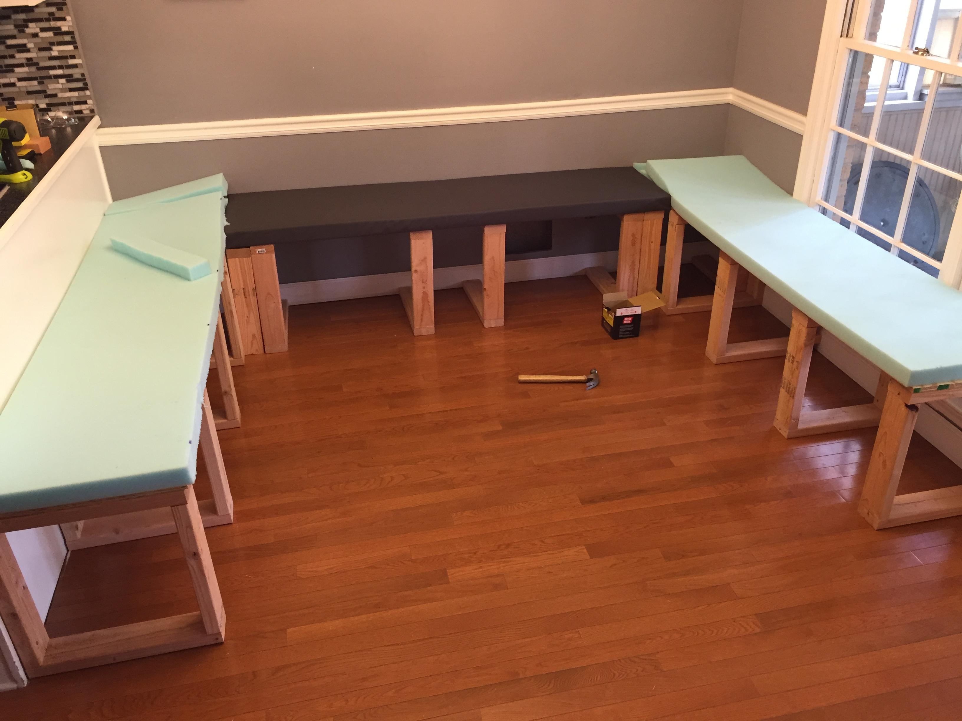 prodigious How To Build A Booth Bench Part - 6: My Kitchen Table Seems So Boring After I Saw This DIY Dining Booth