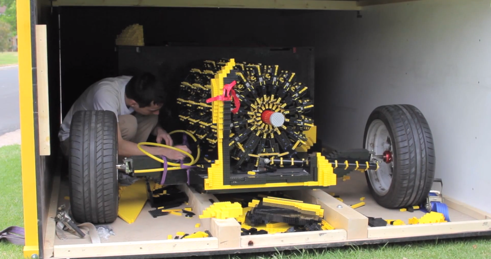 Man Spends Two Years Building A Full Running Car Entirely Out Of Legos