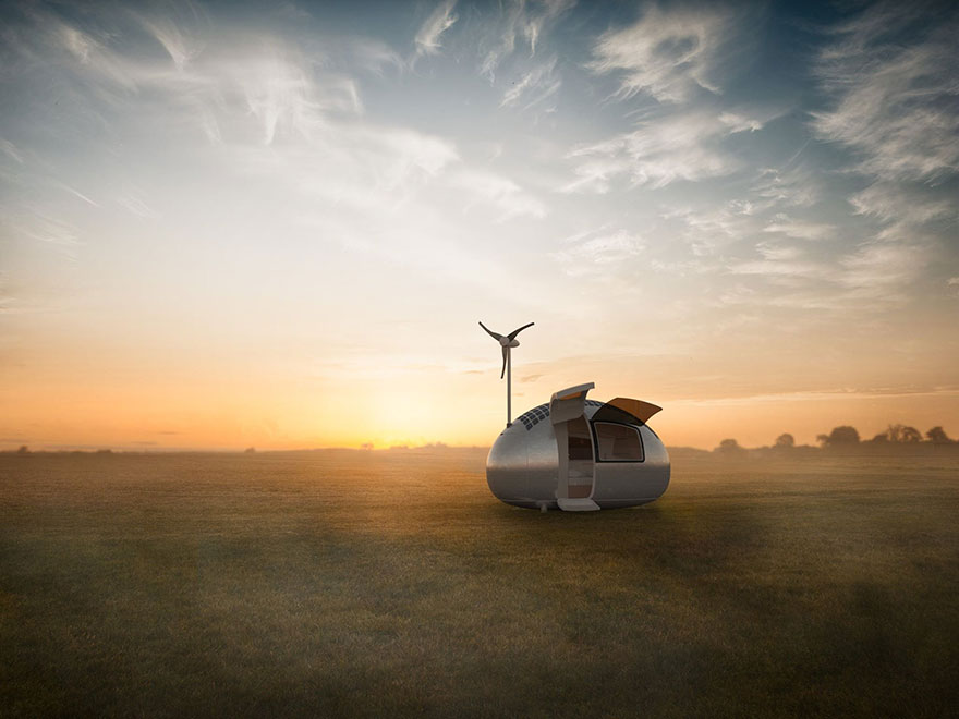 This Wind & Solar Powered Ecocapsule Allows You To Live Fully Off The Grid Anywhere You Want
