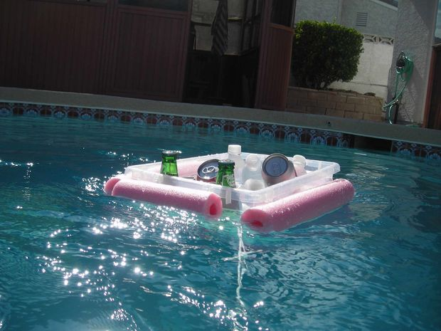 How To Make A Floating Beverage Cooler For Less Than Two Dollars