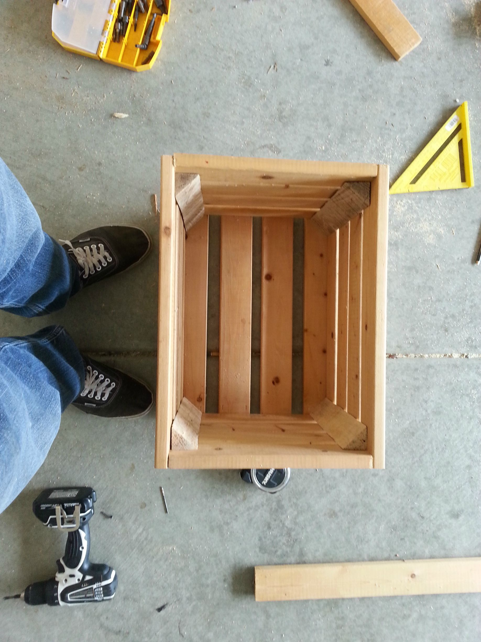 Guy Builds His Wife A Functional Wine Crate Table Set From Scratch For Less Than $100