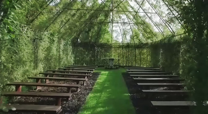 Man Spends 4 Years Growing A Living, Breathing Church From Trees