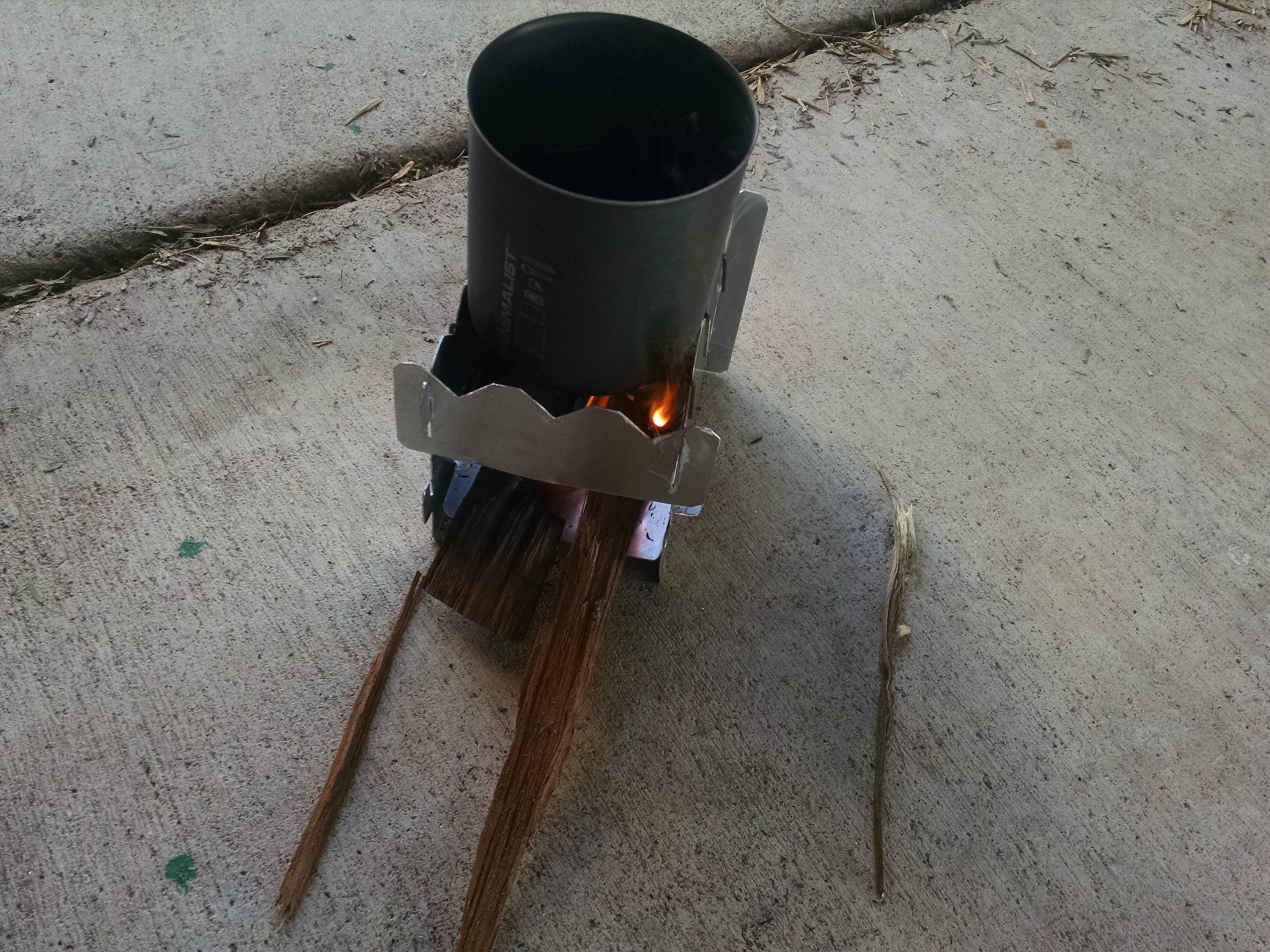 I Made A Simple Homemade Wood Stove To Take Backpacking With Me