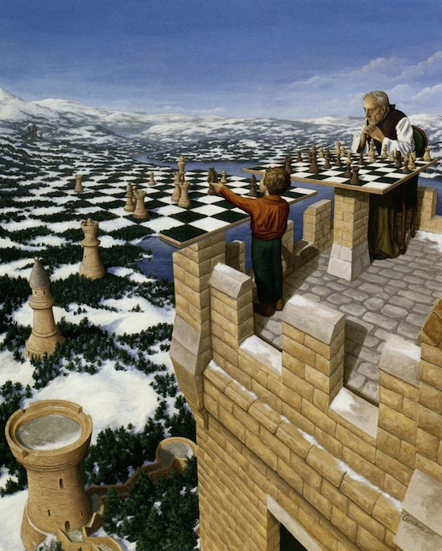 24 Mind Bending Optical Illusion Paintings by Artist Rob Gonsalves