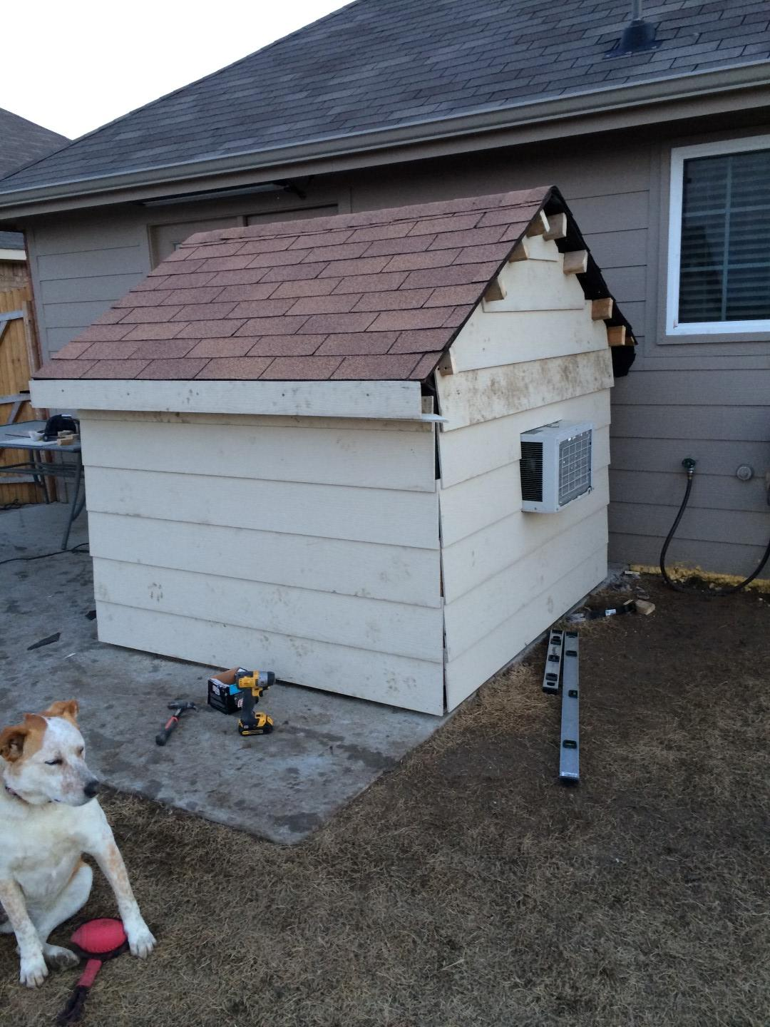 I Built My Two Dogs A Doghouse Equipped With An Air Conditioner For Only $400