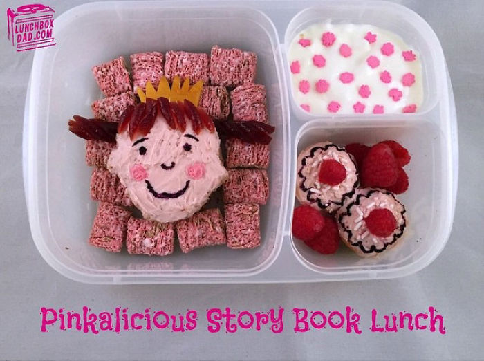 Dad Turns Plain Sandwiches And Snacks Into Edible Masterpieces For His Daughter's School Lunch