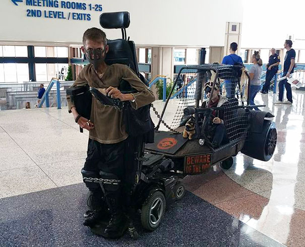 Disabled Student Turns His Wheelchair Into Epic Mad Max Cosplay