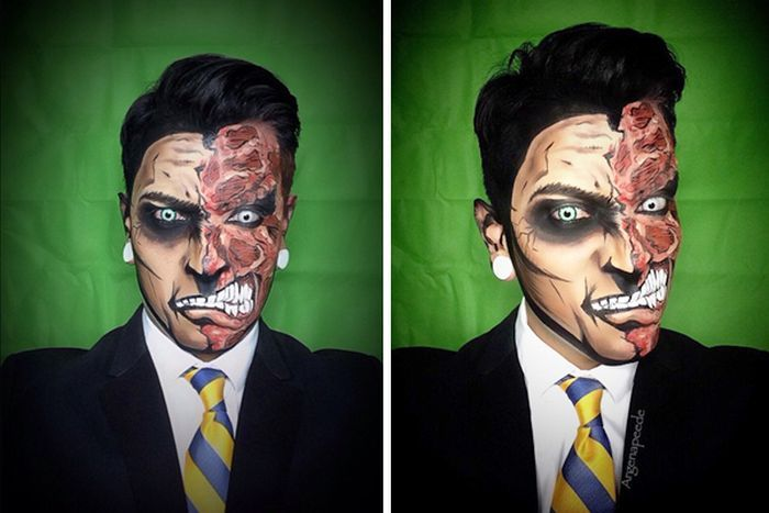 Man Turns Himself Into Superheroes With Nothing But Makeup