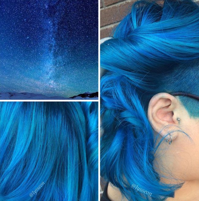 Galaxy Hair Is A New Trend And It's Out Of This World
