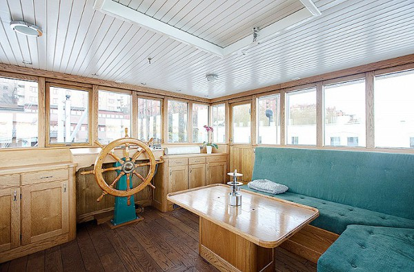100-Year-Old Barge Converted Into A Stunning Floating Home