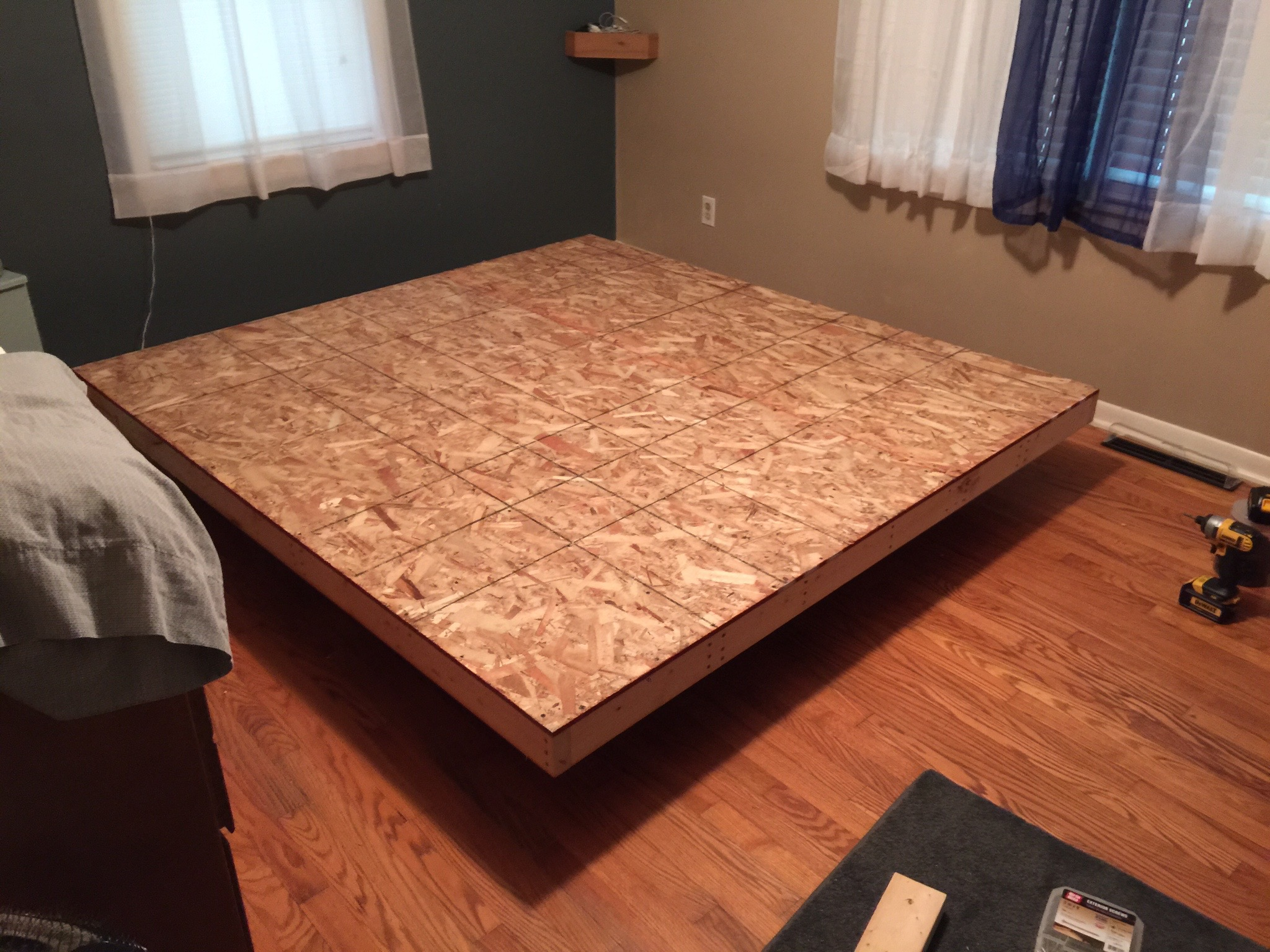 I Made A DIY Floating Bed From Scratch In 4 Days