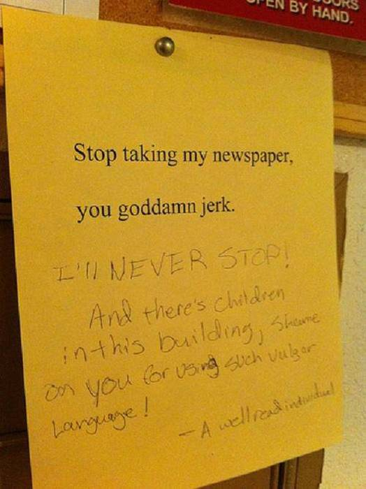25 Of The Most Passive Aggressive Neighbor Messages Ever