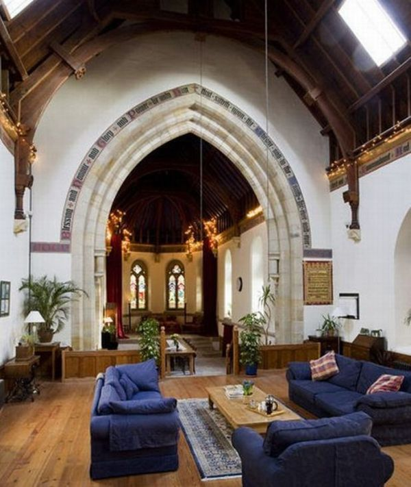 Couple Converts Decaying 18th-Century Church With A Graveyard Into A One-Of-A-Kind Home
