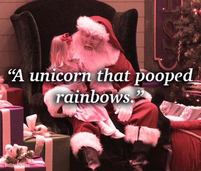 15 Of The Funniest Things That Kids Have Asked Santa For