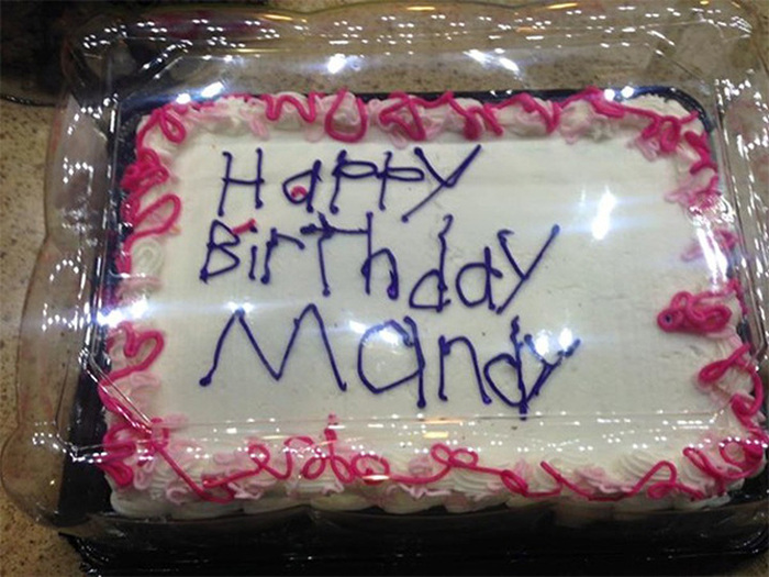 Birthday Cake Decorated By Autistic Employee Goes Viral For All The Right Reasons