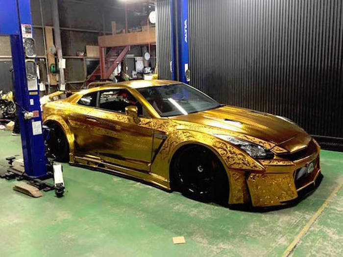 This Hand Engraved Nissan GTR Is A Work Of Art