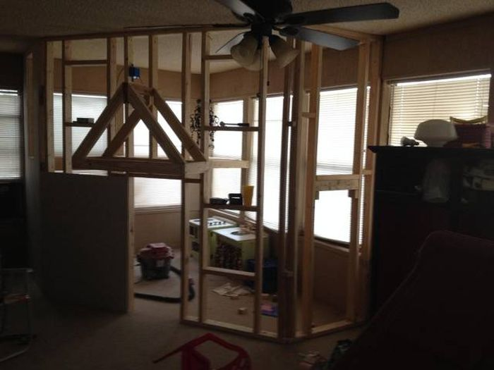 I Built An Indoor Playhouse For My Kids Last Weekend