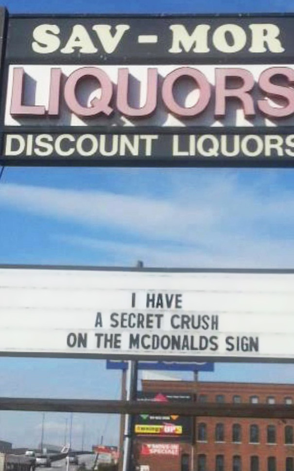 McDonald's And Liquor Store Get Into Hilarious Billboard War And It's Getting Serious
