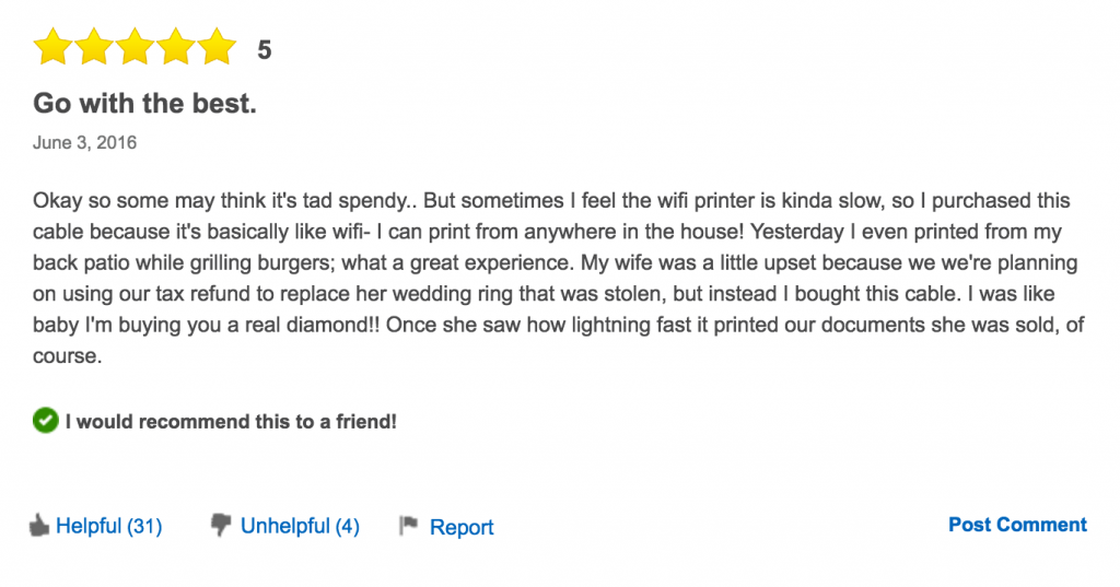 People Can't Stop Trolling This $1600 USB Cable And Here Are 12 Of The Funniest Reviews