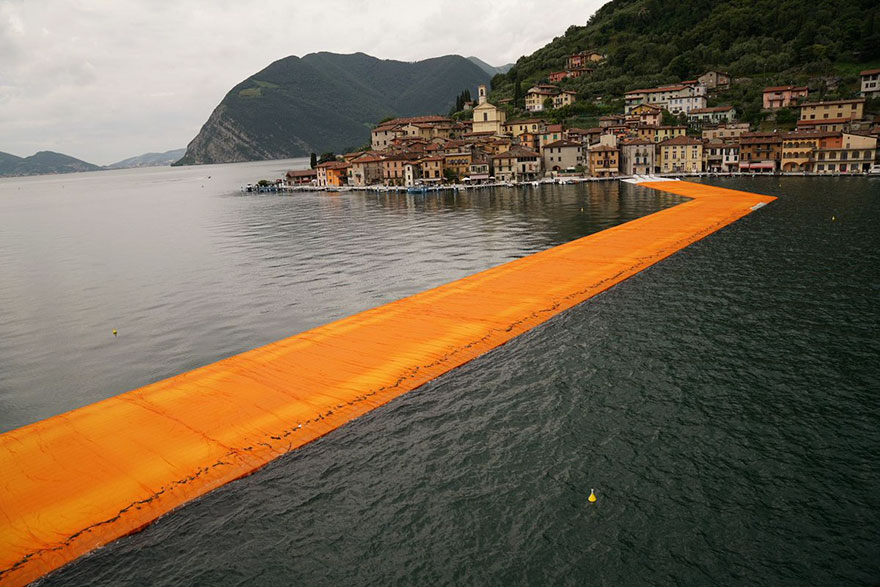 Floating Art Project Allows Everyone To Walk On Water Across An Italian Lake