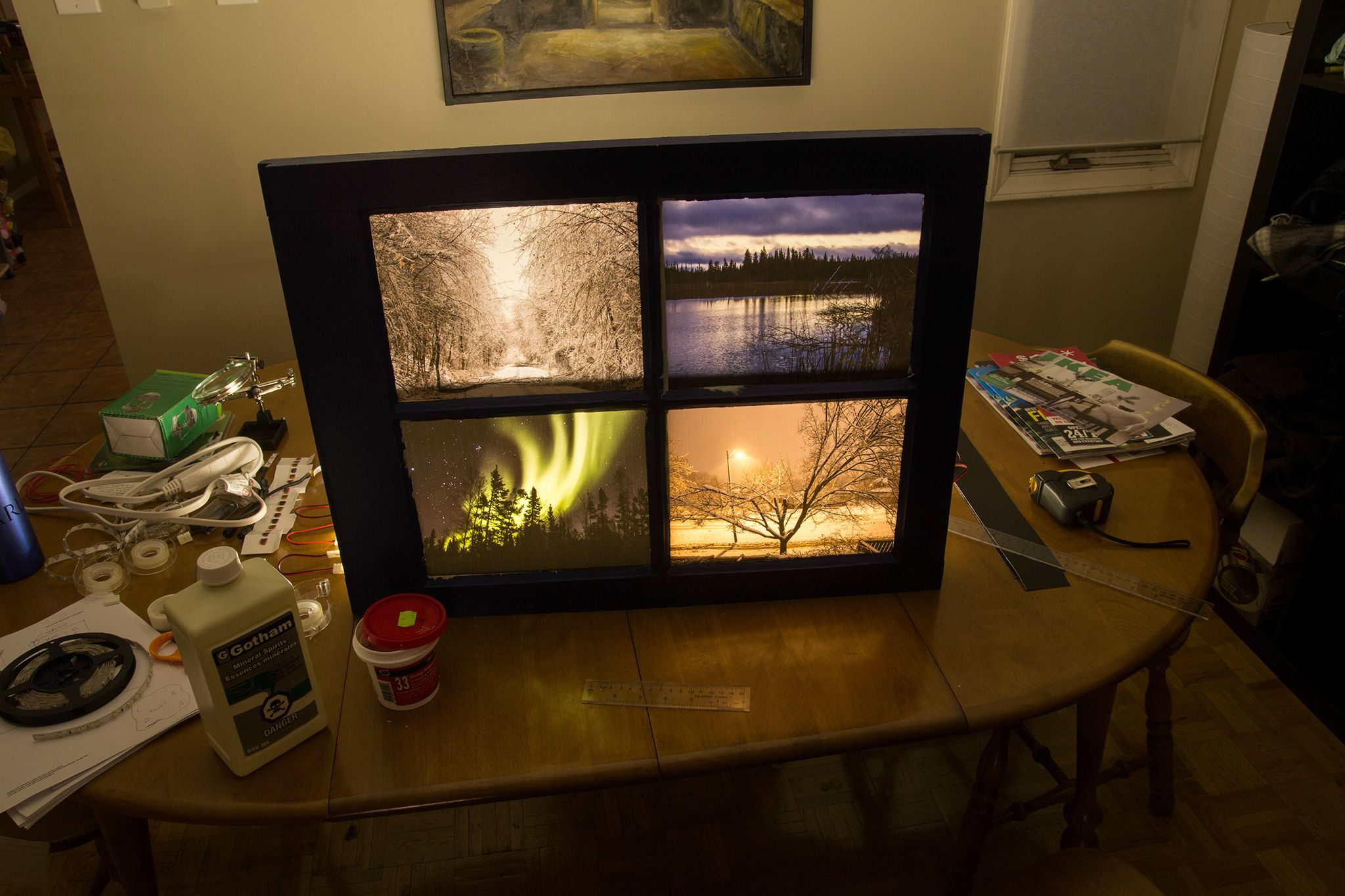 How To Make A Window Frame Lightbox