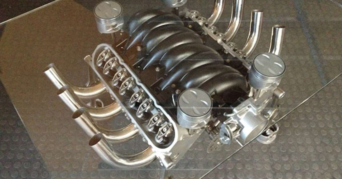 People Are Turning Old Car Engines Into Tables And Its