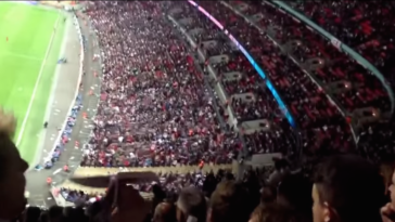 Perfect Paper Airplane Throw From Top Of Stadium Nails A Player In The Head