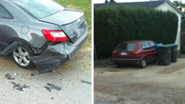 Guy Wakes Up To His Car Being Totaled And Finds The Driver Down The Street After A Quick Walk