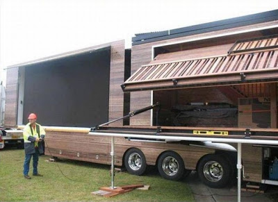 This Truck Transforms Into A Two-Story Bar And Huge Dance Stage