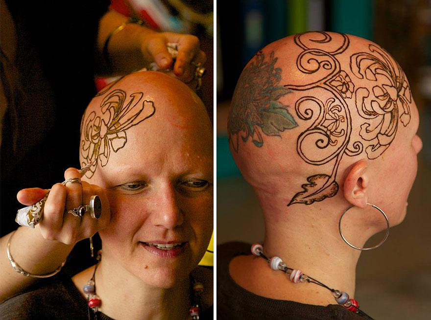 These Elegant Henna Tattoos Are Helping Cancer Patients Cope With Their Hair Loss