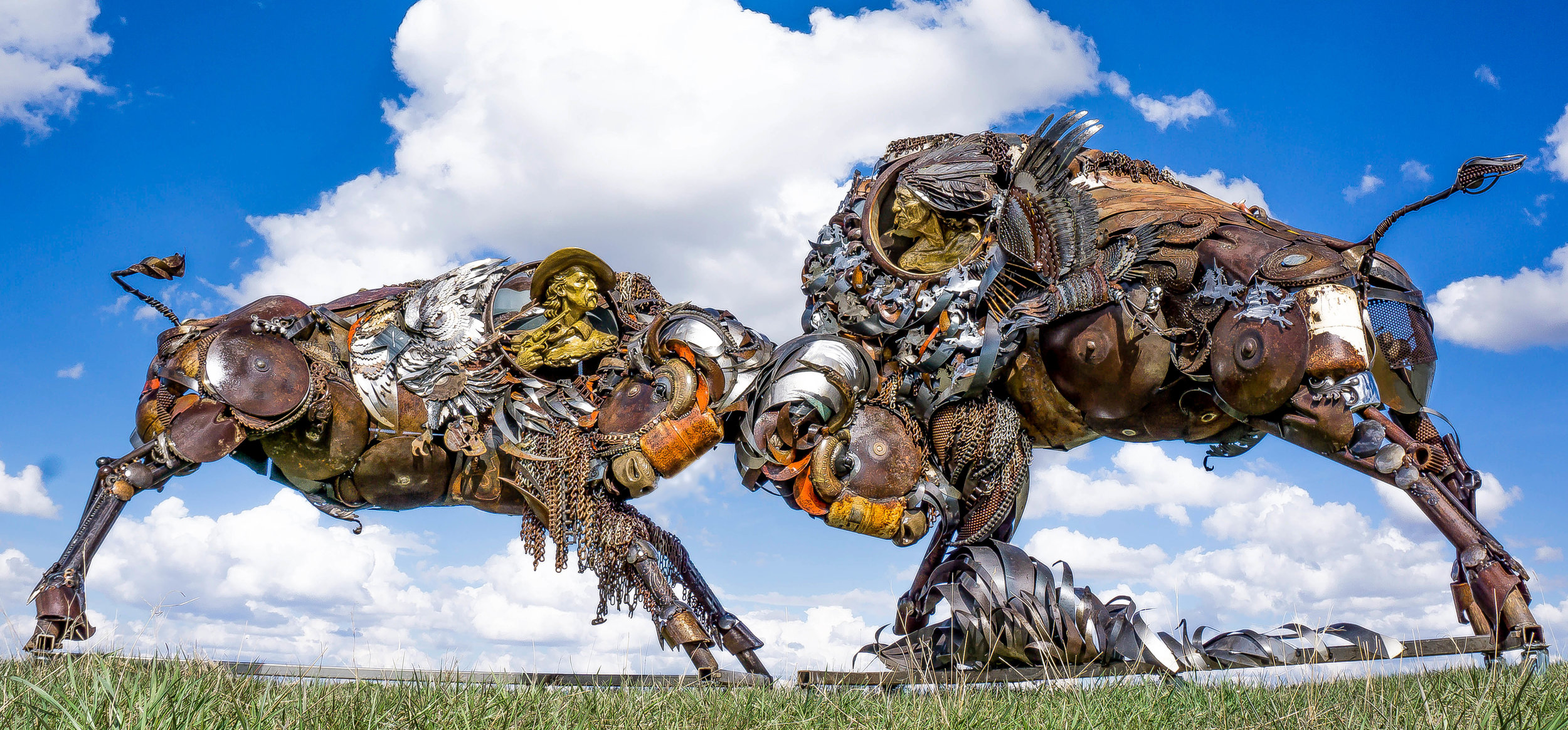 Sculptor Turns Old Scrap Metal and Farm Equipment Into Stunning Sculptures